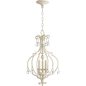 Ansley Persian White Three-Light 14-Inch Chandelier