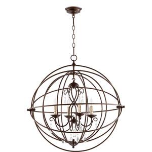 Cilia Oiled Bronze 28-Inch Four-Light Globe Pendant