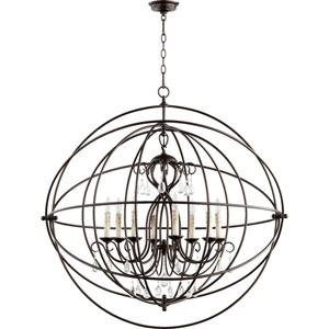 Cilia Oiled Bronze 39-Inch Eight-Light Globe Pendant