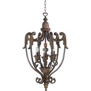 Madeleine Six-Light Corsican Gold Lantern Pendant
