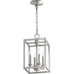 Satin Nickel Four-Light 8-Inch Mini Pendant