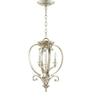 Bryant Aged Silver Leaf 13-Inch Three-Light Chandelier