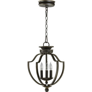 Cole Three-Light Old World Lantern Pendant