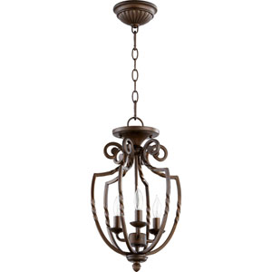 Tribeca Ii Oiled Bronze Three Light Entry Fixture