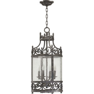 Lorenco Four-Light Spanish Silver Lantern Pendant