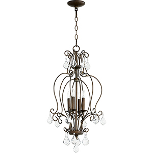 Ariel Vintage Copper Four-Light 15-Inch Chandelier