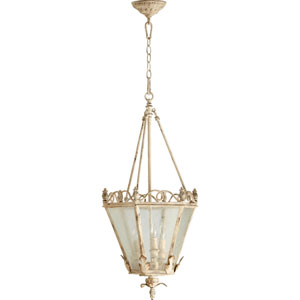 Salento Persian White Three-Light Entry Pendant