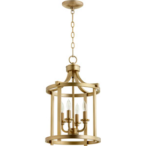 Lancaster Aged Brass Four-Light 13-Inch Pendant