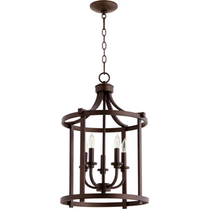 Lancaster Oiled Bronze Five-Light 16-Inch Pendant