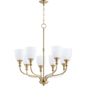Richmond Aged Brass Eight-Light 31-Inch Chandelier