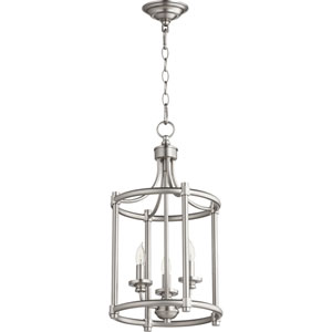Rossington Satin Nickel Three-Light 12-Inch Pendant