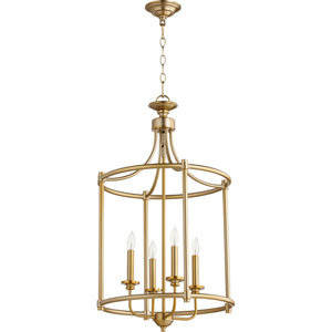 Rossington Aged Brass Four-Light 30-Inch Pendant