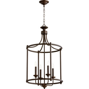 Rossington Oiled Bronze Four-Light 30-Inch Pendant