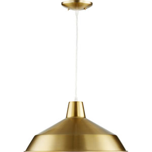 Aged Brass One-Light Pendant