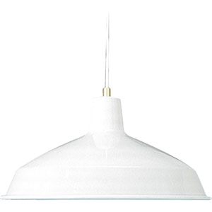 One-Light White Pendant