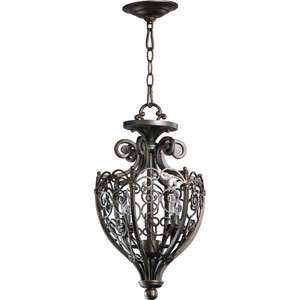 Marcela Two-Light Oiled Bronze with Antique Gold Convertible Pendant