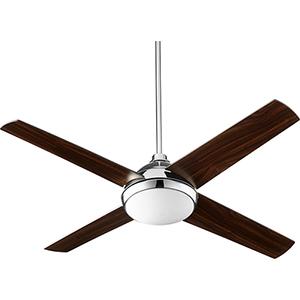 Quest Polished Nickel LED 52-Inch Ceiling Fan