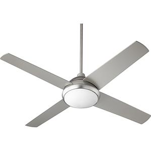Quest Satin Nickel LED 52-Inch Ceiling Fan