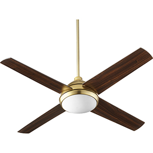 Quest Aged Brass LED 52-Inch Ceiling Fan