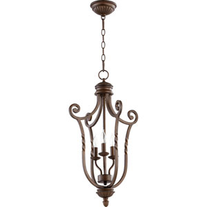 Tribeca Ii Oiled Bronze 27-Inch Three Light Entry Fixture