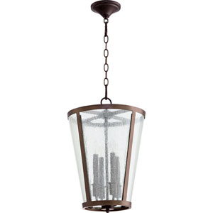 Oiled Bronze 13-Inch Four-Light Pendant