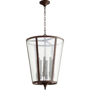 Oiled Bronze 18-Inch Eight-Light Pendant