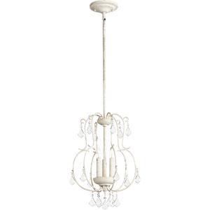 Ariel Persian White Three-Light 13-Inch Pendant