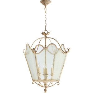 Salento Persian White 18.5-Inch Four Light Entry with Glass