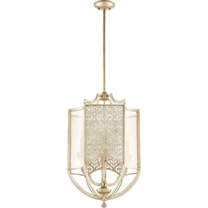 Bastille Aged Silver Leaf Four-Light Chandelier