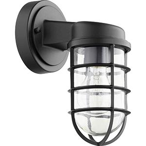 Belfour Noir One-Light 4.88-Inch Outdoor Wall Sconce