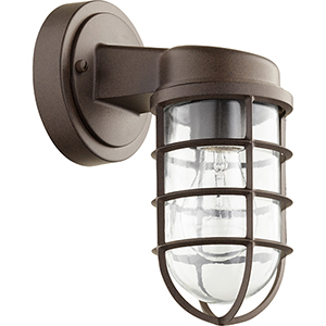 Belfour Oiled Bronze One-Light 4.88-Inch Outdoor Wall Sconce