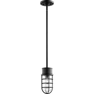 Belfour Noir One-Light 4.25-Inch Outdoor Pendant