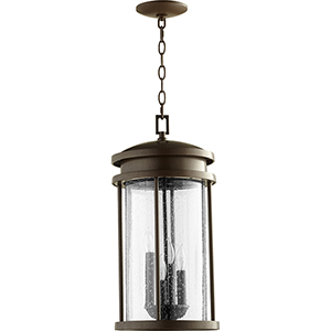 Hadley Oiled Bronze Four-Light 10-Inch Pendant