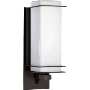 Balboa Oiled Bronze One Light Outdoor Wall Lantern with Satin Opal Glass