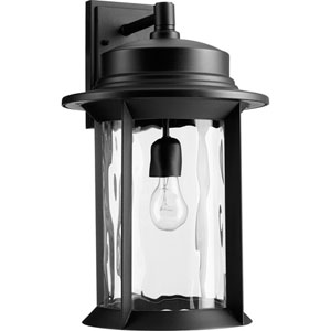 Charter Black One-Light 12-Inch Outdoor Wall Mount