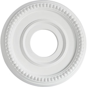 Studio White 12-Inch Ceiling Medallion