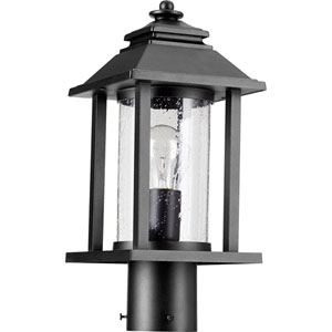 Crusoe Black One-Light 7-Inch Outdoor Post Light
