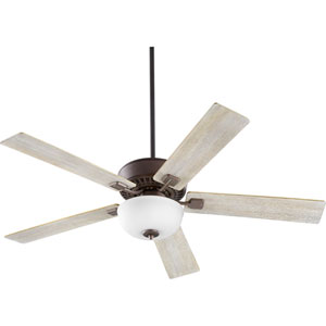 Rothman Oiled Bronze with Satin Opal Two-Light 52-Inch Ceiling Fan