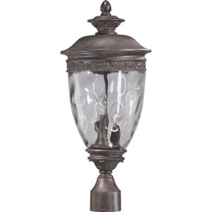 Georgia Three-Light Etruscan Sienna Outdoor Post Light