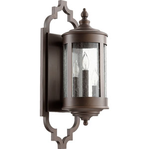 Mayfair Oiled Bronze Three-Light Outdoor Wall Mount