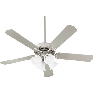 Capri Ix Satin Nickel with Satin Opal Four-Light Energy Star 52-Inch LED Ceiling Fan