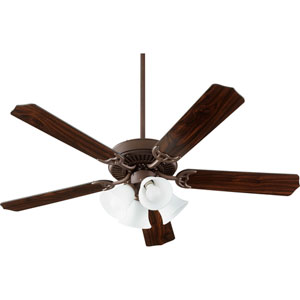 Capri Ix Oiled Bronze with Faux Alabaster Four-Light Energy Star 52-Inch LED Ceiling Fan