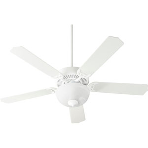 Capri Viii Studio White with Satin Opal Two-Light Energy Star 52-Inch LED Ceiling Fan