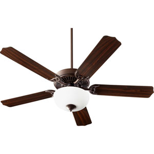 Capri Viii Oiled Bronze with Satin Opal Two-Light Energy Star 52-Inch LED Ceiling Fan