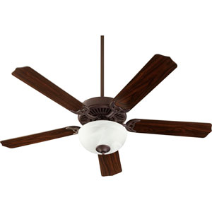 Capri Viii Toasted Sienna with Faux Alabaster Two-Light Energy Star 52-Inch LED Ceiling Fan