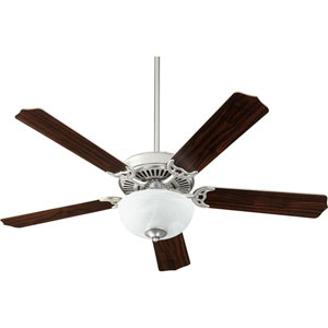 Capri Viii Satin Nickel with Faux Alabaster Two-Light Energy Star 52-Inch LED Ceiling Fan