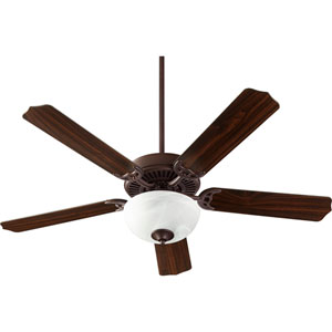 Capri Viii Oiled Bronze with Faux Alabaster Two-Light Energy Star 52-Inch LED Ceiling Fan