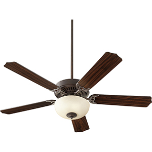 Capri VIII Toasted Sienna with Amber Scavo LED 52-Inch Ceiling Fan