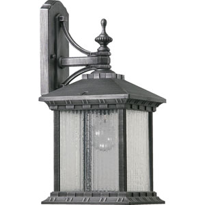 Huxley Large One-Light Rustic Silver Outdoor Wall Light