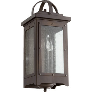 Riverdale Oiled Bronze Three-Light Outdoor Wall Mount